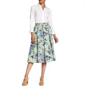 Philosophy Print Apparel Floral Pleated Midi Skirt
